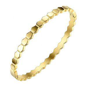 Jewelry - Hexagon Cuff Bracelet Geometric Bangle NEW